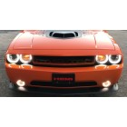 Dodge Challenger External Waterproof White & Amber Switchback LED Halo Headlight and Fog Light Kit (2008 - 2014)